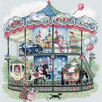 Carousel Counted Cross Stitch Kit 13.75