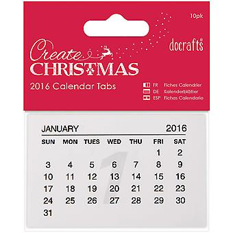 Papermania Create Christmas 2016 Calendar Tabs 10/Pkg-  PM172310