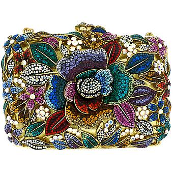 Butler  and  Wilson Multi Crystal Flower Couture Clutch Bag