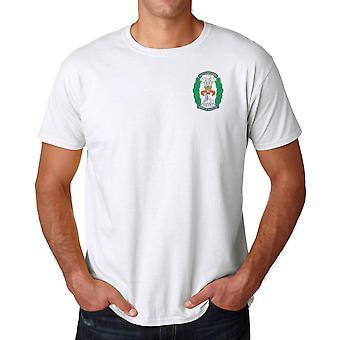 Le South Lancashire Regiment brodé Logo - armée britannique officiel Ringspun T Shirt