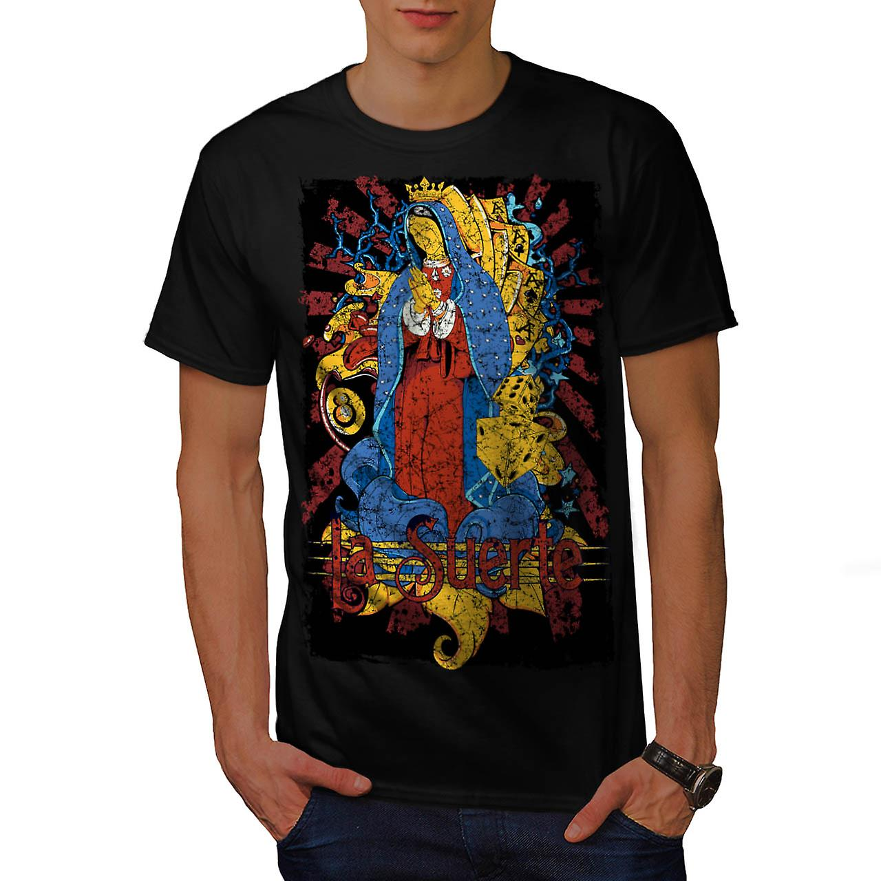Mary Magdalene Card Mother Jesus Men Black T-shirt | Wellcoda