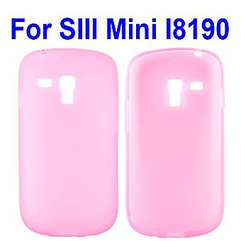Gennemsigtigt cover, TPU, at Galaxy S3 mini (Pink)