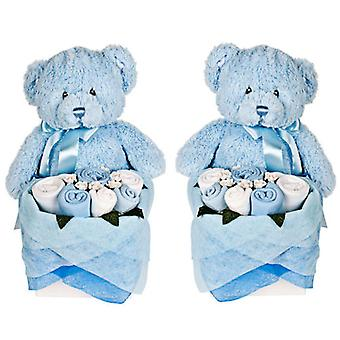 Twins - Rosebud Teddy Box - chaber