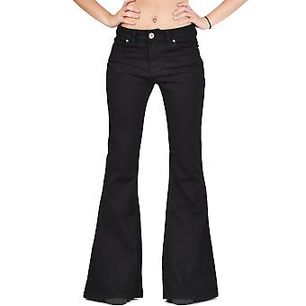 Bellbottom Wide Flared Jeans - Black