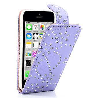 Cover cell phone case for mobile phone Apple iPhone 5 c rhinestone purple violet