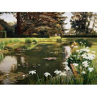The Garden Sutton Place England Poster Print by Ernest Spence