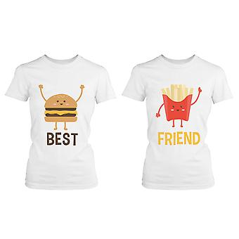 Burger and Fries BFF Shirts Best Friend Matching Tees Cute Friendship Tshirts
