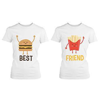 Hamburger i frytki BFF koszulki najlepszego przyjaciela pasujące koszulki koszulki Ładna przyjaźni