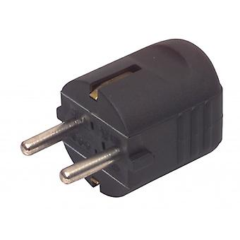 Cup AC Power Plug Schuko/Type F (CEE 7/7) 16 A Black