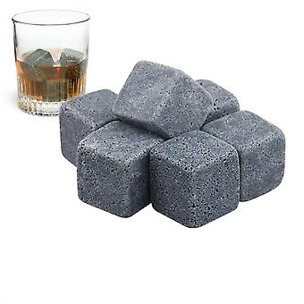 TRIXES 9 Piece Quality Granite Whiskey Stones Dry Ice Cube Rocks Set