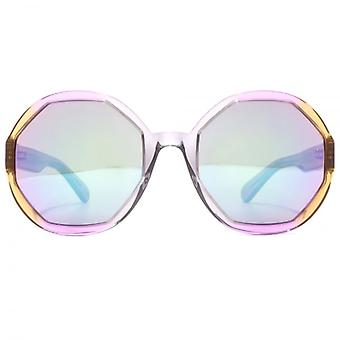 Marc Jacobs Sechseck Runde Sonnenbrille In Crystal grau rosa braun