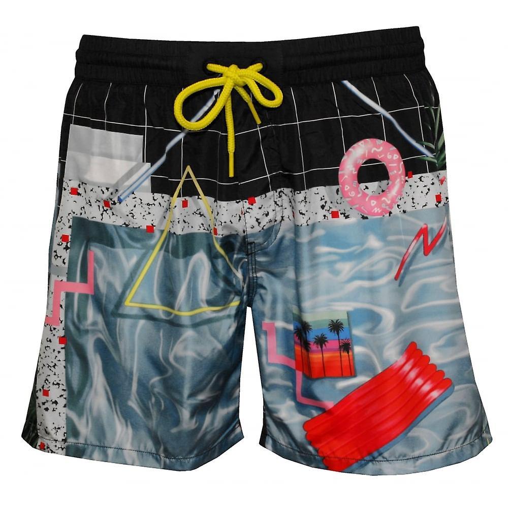 Diesel Poolside Photographic Print Swim Shorts, Blue