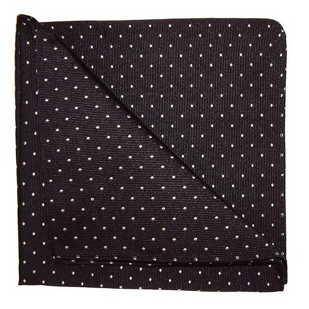 Tyler and Tyler Spots Pocket Square - Black/White