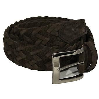 40 Colori Rope and Suede Leather Belt - Brown