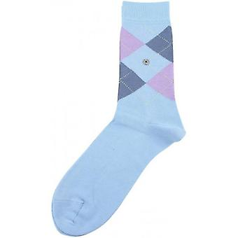 Burlington Covent Garden Socks - Pale Blue/Lilac/Blue