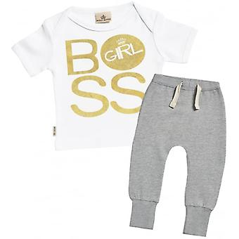 Verwend rotte BOSS Girl T-Shirt & Joggers Outfit Set