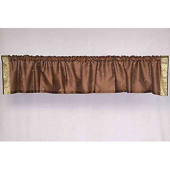 Brown - Rod Pocket Top It Off a mano Sari Valance - coppia