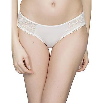 ليبي Maison 8763-801 المرأة الكريستال زنبق أبيض مع الرباط اللباس الداخلي بيكيني كلسون قصيرة