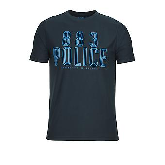 883 Police Selby Graphic Print T-Shirt | Navy & Red