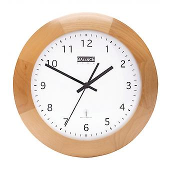 Balance radio controlled wall clock 32 cm Analog brown/white