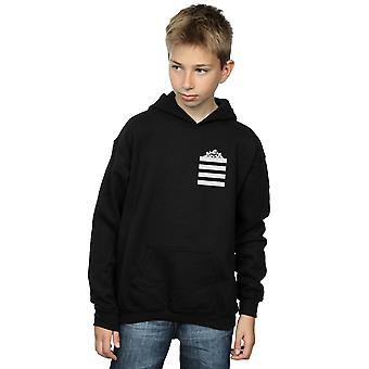 Looney Tunes Boys Taz Stripes Faux Pocket Hoodie