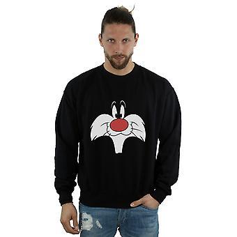 Looney Tunes Men's Sylvester Big Face Sweatshirt