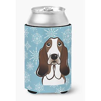 Carolines Treasures  BB1677CC Snowflake Basset Hound Can or Bottle Hugger