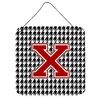 Monogramm - erste X Houndstooth Wand oder Tür hängen Drucke CJ1021