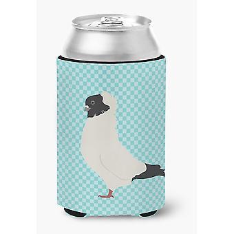 Carolines Treasures  BB8126CC Nun Pigeon Blue Check Can or Bottle Hugger