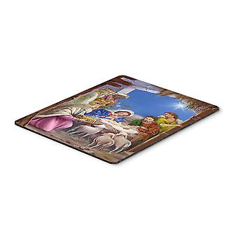 The Wise Men at the Nativity Christmas Mouse Pad, Hot Pad or Trivet