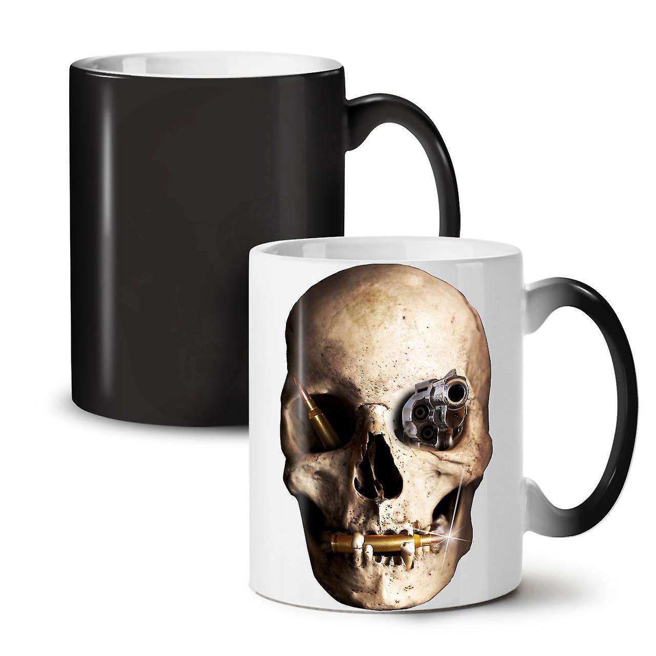 Tasse Noir Thé Céramique Couleur Gun Nouveau De 11 Death OzWellcoda Changeant Café Skull Metal qUVGMpSz