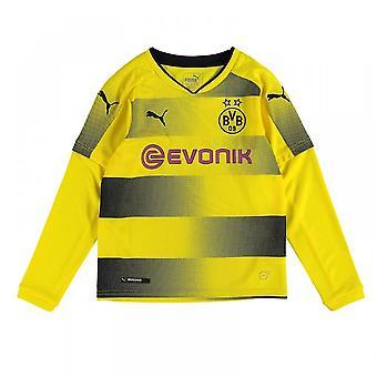 2017-2018 Borussia Dortmund Long Sleeve Home Puma Shirt (Kids)