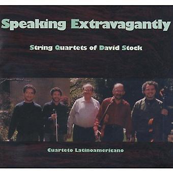 Cuarteto Latinoamericano - habla extravagante: importación de USA de cuartetos de cuerda de David Stock [CD]