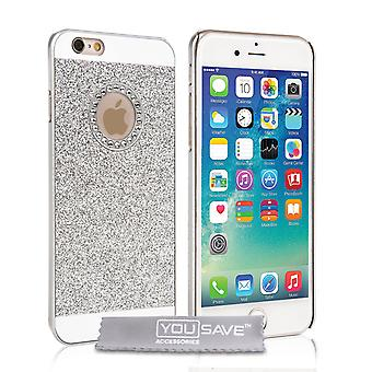 Yousave Accessories iPhone 6s Flash Diamond Case - Silver