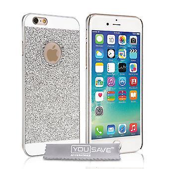 Yousave tilbehør iPhone 6s Flash diamant sag - sølv