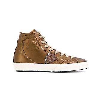 Philippe model women's CLHDAM13 brown leather Hi Top sneakers
