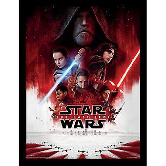 Star Wars die letzten Jedi gerahmten Druck 16 x 12