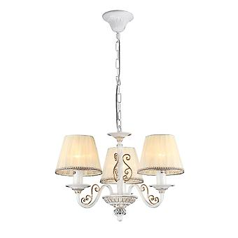 Maytoni Lighting Sunrise Elegant Collection Chandelier, White Gold