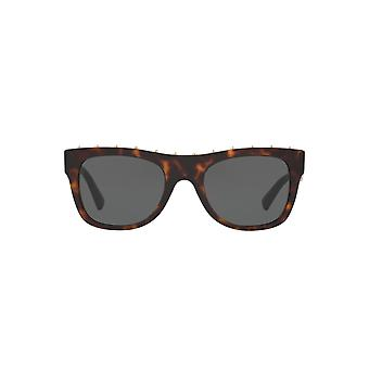 Valentino Stud Brow Detail Sunglasses In Havana