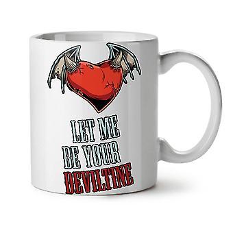 Valentine Devil Holiday NEW White Tea Coffee Ceramic Mug 11 oz | Wellcoda