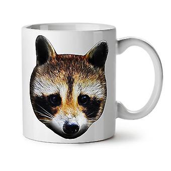Lindo mapache Animal enfrentan nuevo té blanco taza de café de cerámica 11 oz | Wellcoda