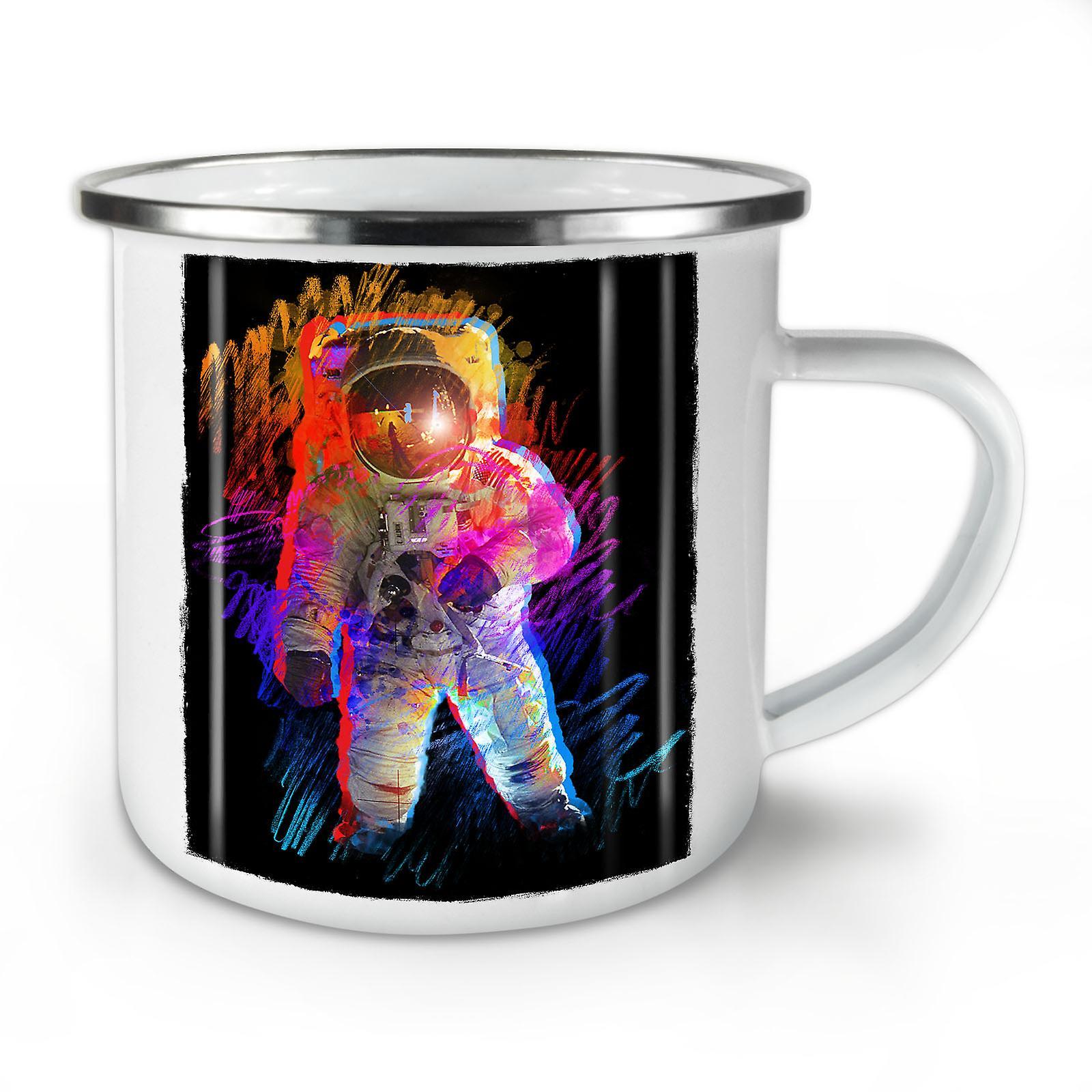 Moon New Coffee Man Mug10 OzWellcoda Whitetea Enamel Walk Of Space doeBrCx
