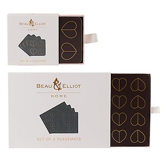 Beau & Elliot Dove Placemats and Coasters
