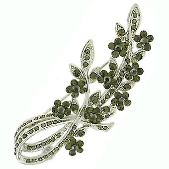 Brooches Store Antique Silver  and  Hematite Floral Corsage Brooch