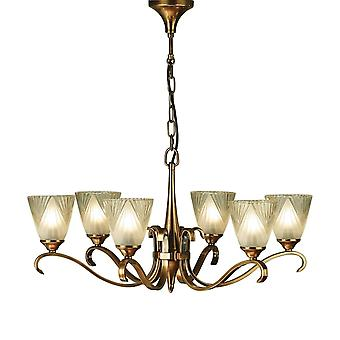 Interiors 1900 63437 Columbia 6 Light Ceiling Fitting In Antique Brass