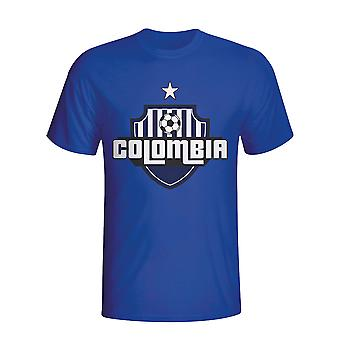 Colombia land Logo T-shirt (blå)
