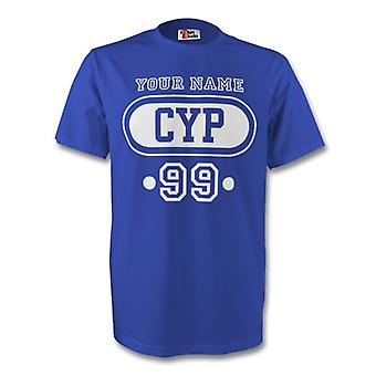 Cyprus Cyp T-shirt (blue) + Your Name (kids)