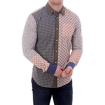 Scotch & Soda Ls Shirt With Mixed Prints