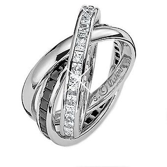 s.Oliver Jewel Ladies ring Silver Zirconia 3-piece SO357