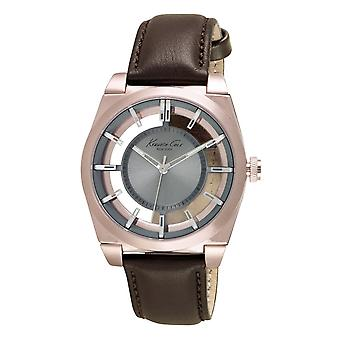 Kenneth Cole New York men's wrist watch analog quartz leather 10027842